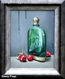 7. Stillife with green bootle and crab apples